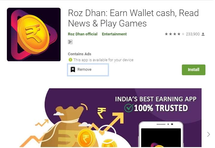 rozdhan money earning apps in india